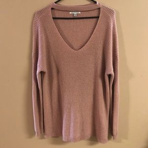 American Eagle sweater with v neck choker SZ M
